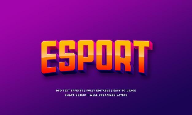 Estilo de texto 3d esport Psd Premium