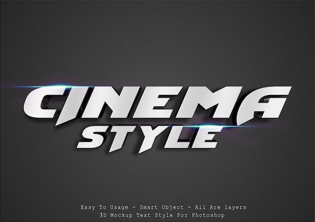 Estilo de texto cinematográfico 3d Psd Premium