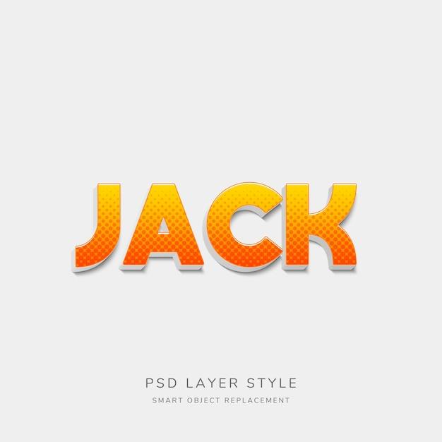 Estilo de texto retrô laranja gradiente 3d Psd Premium