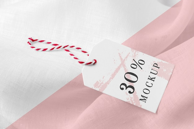 Etiqueta de mock-up de roupas em tecido macio Psd grátis