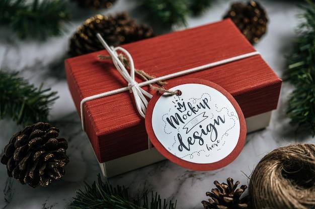 Etiqueta de presente de natal Psd grátis
