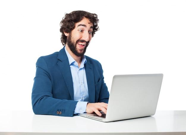 Executivo positiva escrever um e-mail Psd grátis