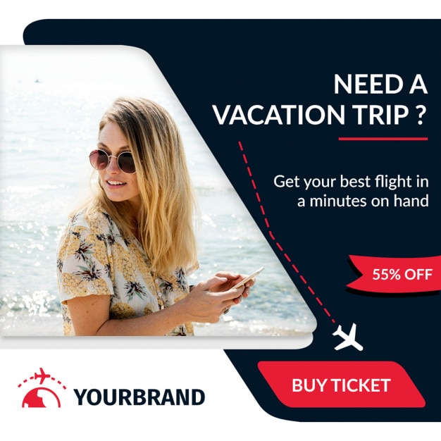 Faixa de viagens e turismo Psd Premium