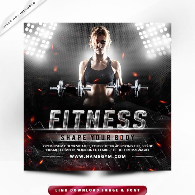 Faixa fitness post premium Psd Premium