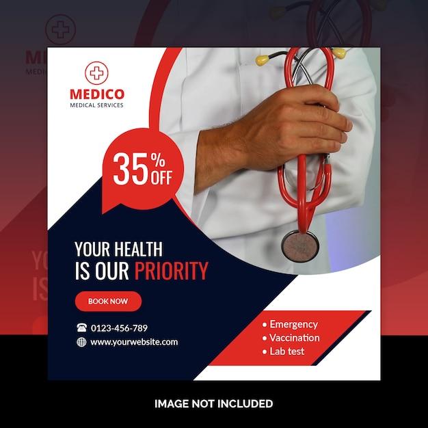 Faixa médica Psd Premium