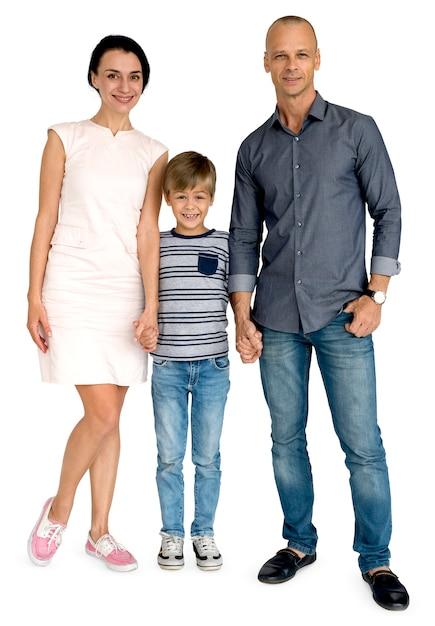 Família mãe pai filho felicidade conceito Psd Premium