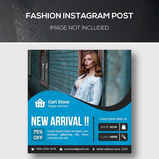Fashion instagram post ou modelo de banner quadrado Psd Premium