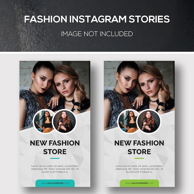 Fashion instagram stories Psd Premium