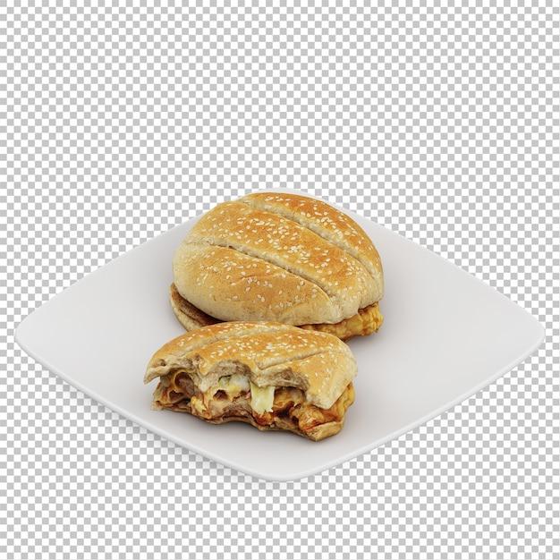 Fast food isométrico Psd Premium