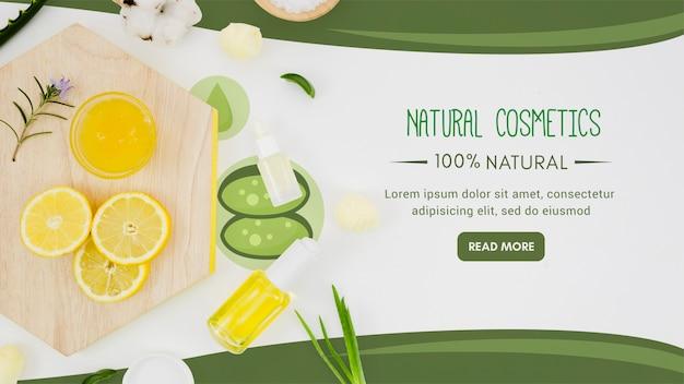 Fatias de limão com óleo orgânico Psd grátis