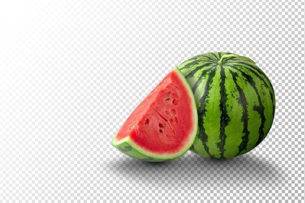 Fatias de melancia e melancia Psd Premium