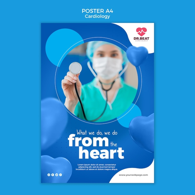 Fazemos isso do modelo de pôster de coração Psd grátis