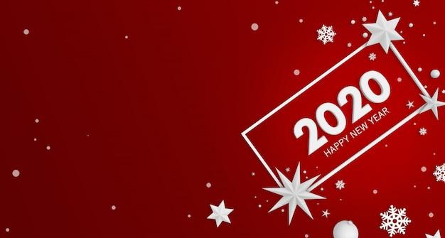 Feliz ano novo 2020 fundo Psd Premium