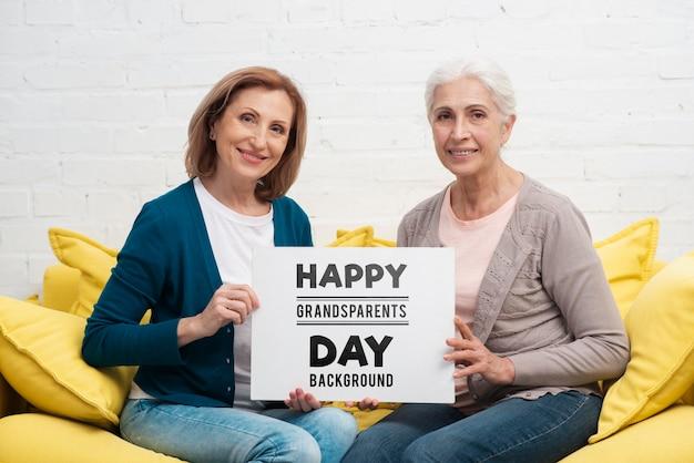 Feliz dia dos avós conceito Psd grátis