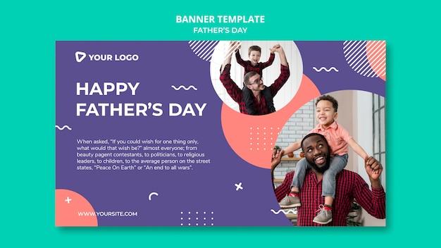 Feliz dia dos pais conceito banner modelo mock-up Psd grátis
