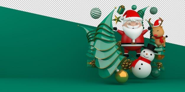 Feliz natal e feliz ano novo. renderização 3d Psd Premium