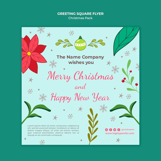 Feliz natal e um feliz ano novo Psd grátis