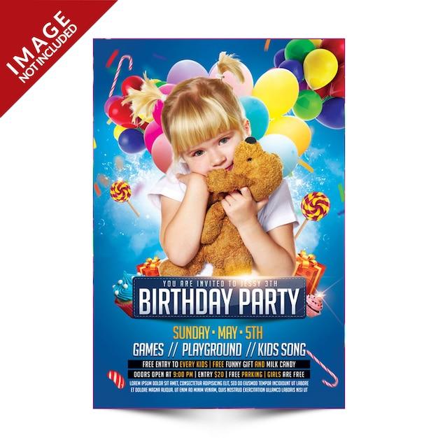 Festa de aniversário para crianças Psd Premium