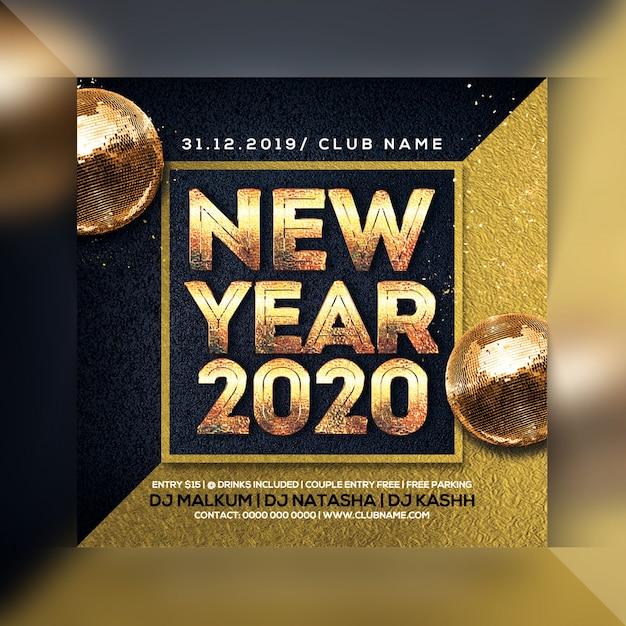 Festa de ano novo Psd Premium