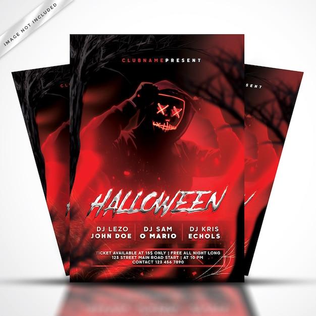 Festa de halloween flyer Psd Premium