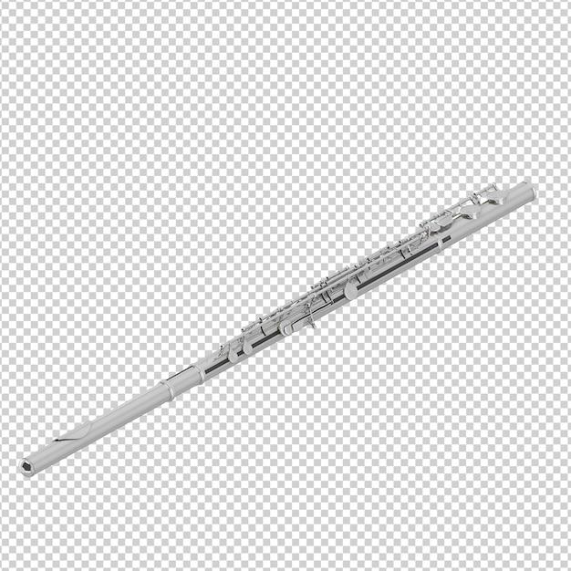 Flauta isométrica Psd Premium