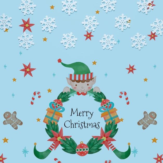 Flocos de neve com conceito de feliz natal Psd grátis