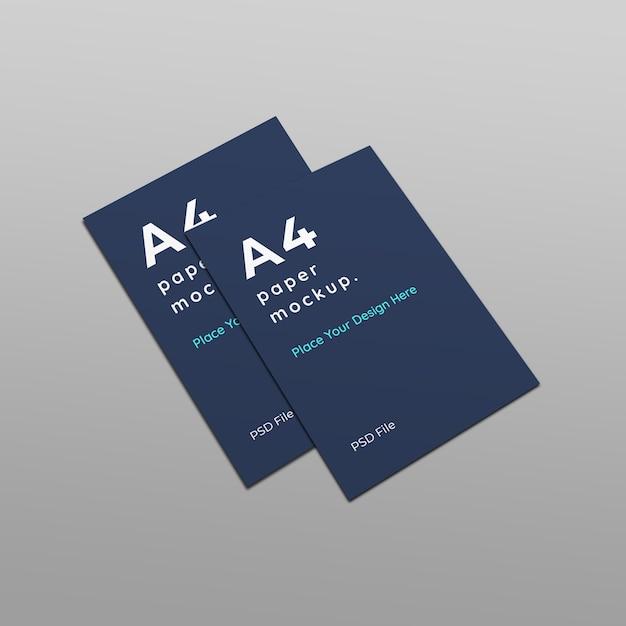 Flyer paper mockup Psd Premium
