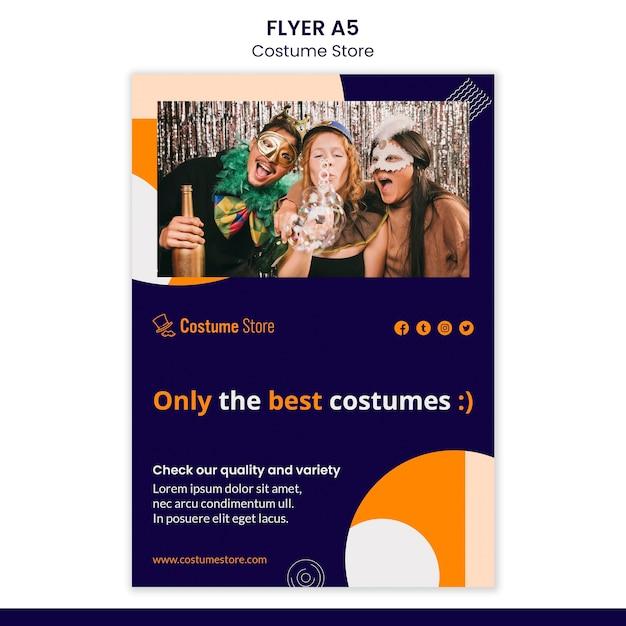 Flyer para fantasias de halloween Psd grátis