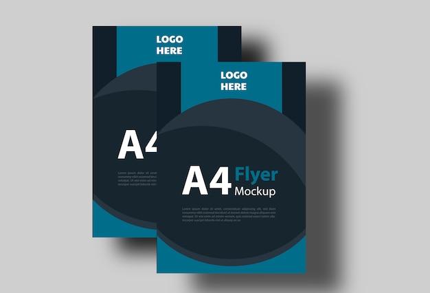 Flyer poster currículo cv mock-up Psd Premium