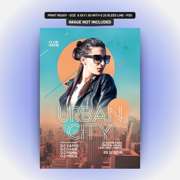 Flyer urbano da cidade Psd Premium