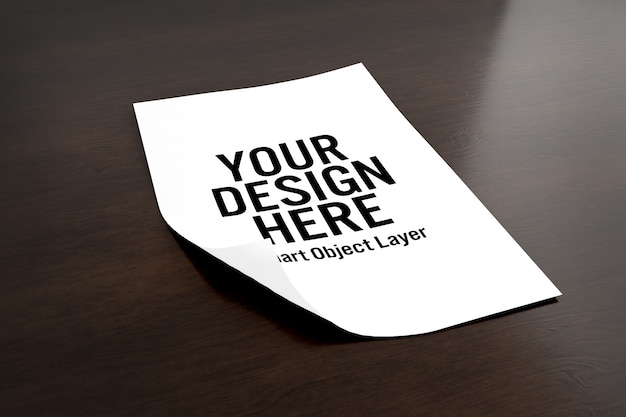 Folha de papel mock up Psd Premium