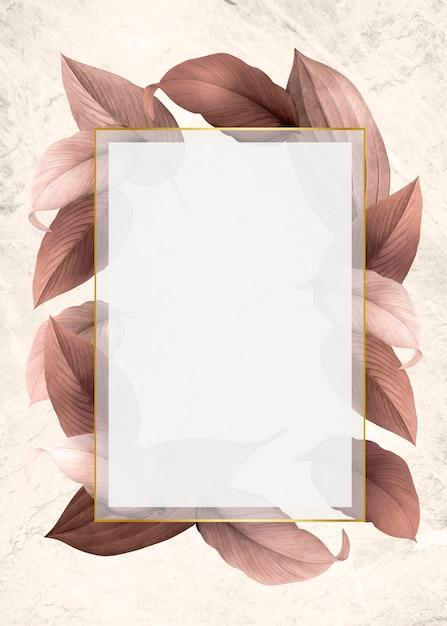 Folhagem, decorado, quadro Psd grátis