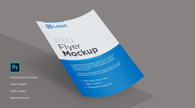 Folheto caindo e design de maquete de pôster Psd Premium