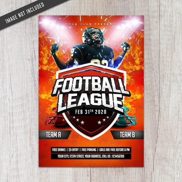 Folheto da liga de futebol Psd Premium