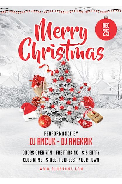Folheto de festa de natal / flyer Psd Premium