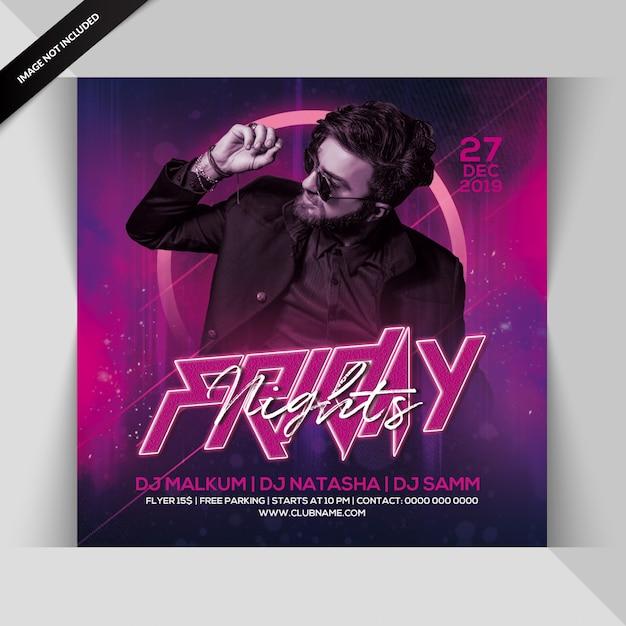 Folheto de festa de noites de sexta-feira Psd Premium