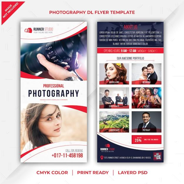 Folheto de fotografia dl Psd Premium