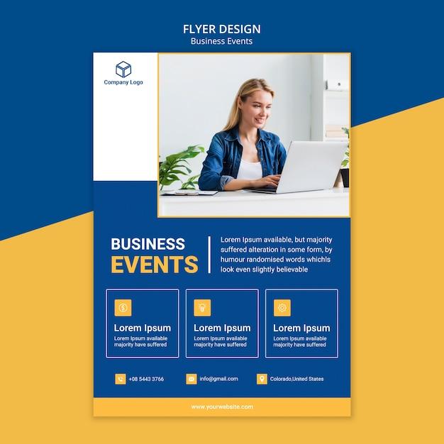 Folheto de marketing para o modelo de negócios Psd grátis
