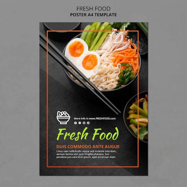 Folheto de modelo de anúncio de alimentos frescos Psd grátis