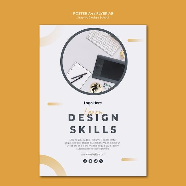 Folheto de modelo de design gráfico Psd grátis