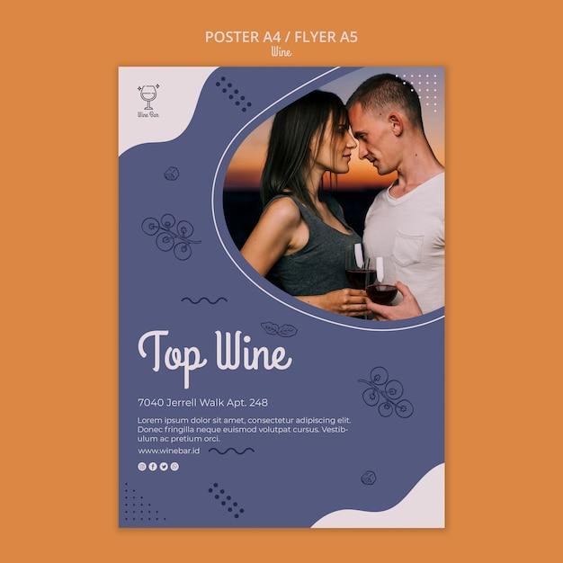 Folheto de modelo de loja de vinhos Psd grátis