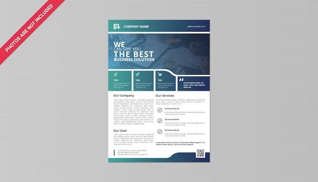 Folheto de negócios Psd Premium
