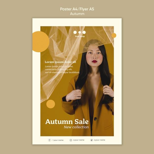 Folheto de nova coleção de venda de outono Psd grátis