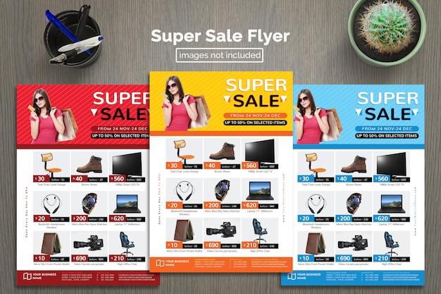Folheto de vendas super Psd Premium