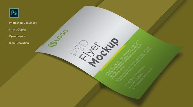 Folheto e pôster que coloca o design do mockup Psd Premium