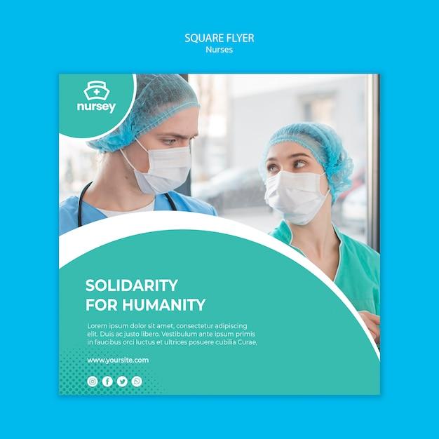Folheto quadrado de conceito de saúde Psd grátis