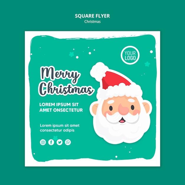 Folheto quadrado de modelo de anúncio feliz natal Psd grátis