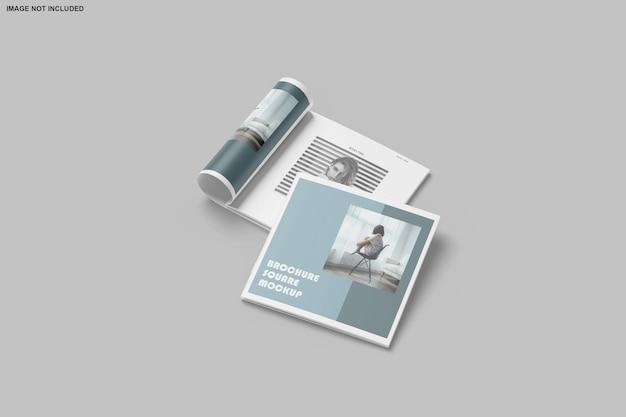 Folheto quadrado e maquete de catálogo isolados Psd Premium