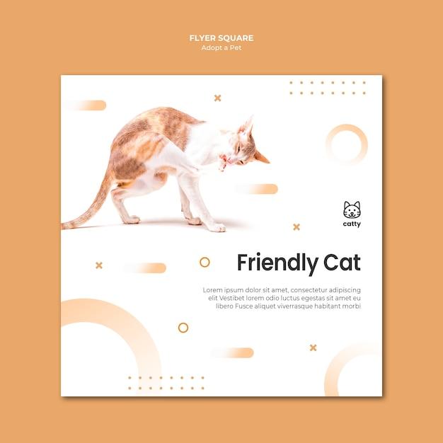 Folheto quadrado para a adoção de um animal de estimação Psd grátis