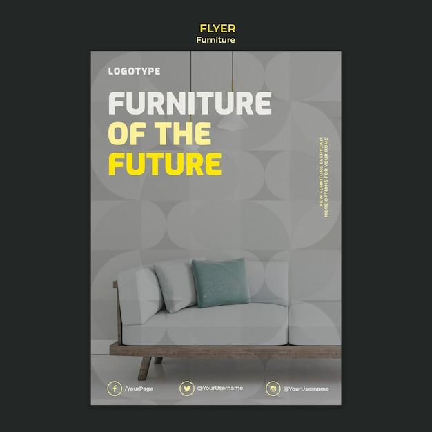Folheto vertical para empresa de design de interiores Psd grátis